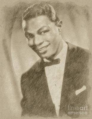 Singer Drawing - Nat King Cole, Singer by Frank Falcon