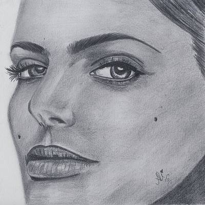Saba Painting - Natalie Portman by Bobby Dar