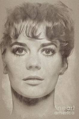 Musicians Drawings Rights Managed Images - Natalie Wood, Actress Royalty-Free Image by Esoterica Art Agency