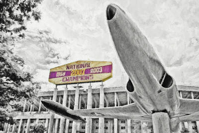 Photograph - National Champions - Digital Painting Selective Color by Scott Pellegrin