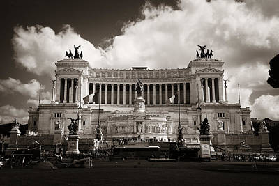 Photograph - National Monument To Victor Emmanuel II  by Songquan Deng