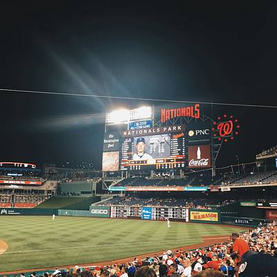 Majorleaguebaseball Photograph - Nationals Game by Terence Daniels