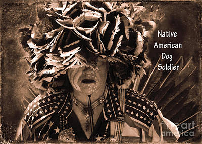 Photograph - Native American Dog Soldier by Olivia Hardwicke