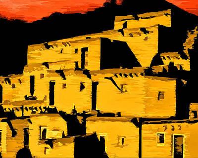 Native American Sunset Art Print