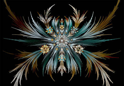 Digital Art - Native Feathers by Barbara A Lane