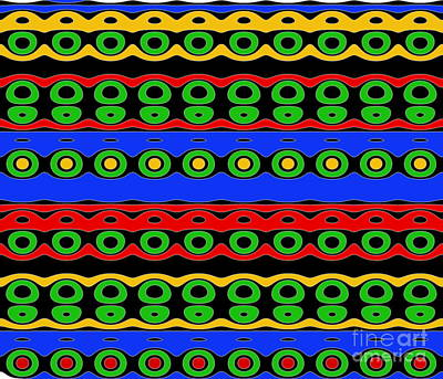 Photograph - Native Pattern In Bright Colors by Yali Shi