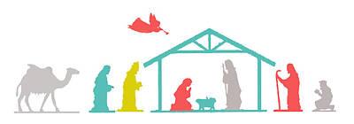 Photograph - Nativity Gifts by Munir Alawi