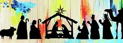 Photograph - Nativity In Colors by Munir Alawi