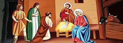 Photograph - Nativity Painting by Munir Alawi