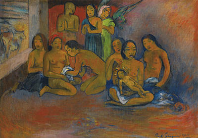 Painting - Nativity by Paul Gauguin