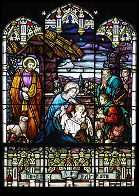 Holy Family Photograph - Nativity Stained Glass  by Munir Alawi
