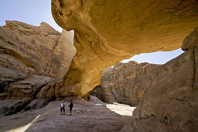 Photograph - Natural Arch In Wadi Rum by Michele Burgess