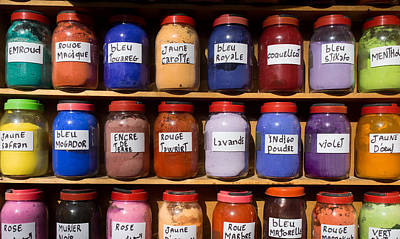 Essaouira Photograph - Natural Dyes For Sale In The Medina by Panoramic Images
