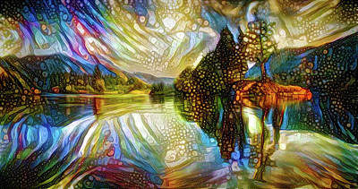 Mixed Media - Nature Reflections by Lilia D