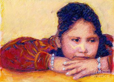 Navajo Girl Original by Suzie Majikol Maier