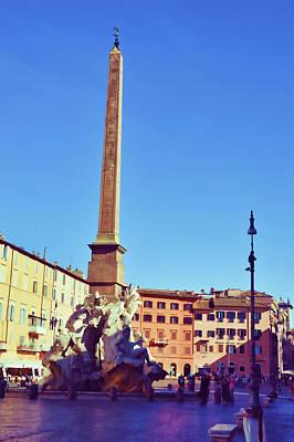 Photograph - Navona Obelisk by JAMART Photography
