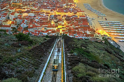 Photograph - Nazare Portugal Funicolar by Benny Marty