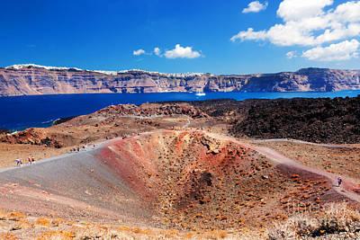 Photograph - Nea Kameni Volcanic Island In Santorini by Michal Bednarek