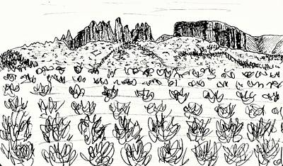 Drawing - Near Guadix by Chani Demuijlder