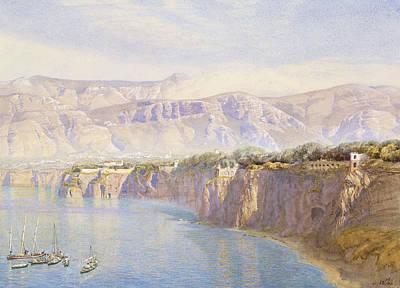 Italian Landscape Painting - Near Sorrento by John Brett