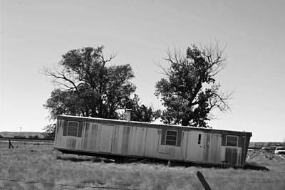 Photograph - Nebraska Trailer In A Field by Matt Harang