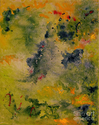 Art Print featuring the painting Nebula by Karen Fleschler