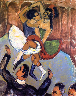 Germanic Painting - Negro Dance by Ernst Ludwig Kirchner