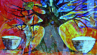 Image Transfer Mixed Media - Neighbor - Voisin by Fania Simon