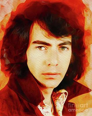 Jazz Royalty-Free and Rights-Managed Images - Neil Diamond, Music Legend by John Springfield