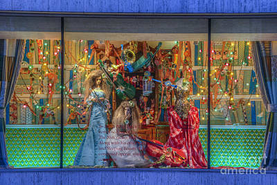 Photograph - Neiman Marcus Festive Holiday Window  2014/15 by David Zanzinger