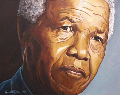 Freedom Painting - Nelson Mandela by Kenneth Kelsoe