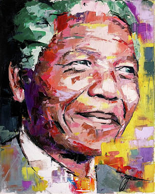 Rip Painting - Nelson Mandela by Richard Day