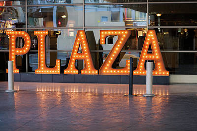 Photograph - Neon Plaza by Carl Wilkerson
