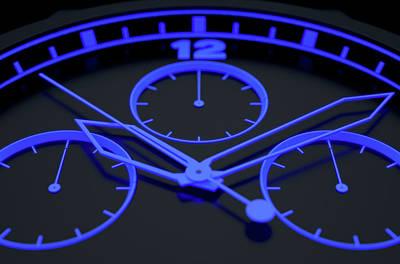 Soft Digital Art - Neon Watch Face by Allan Swart