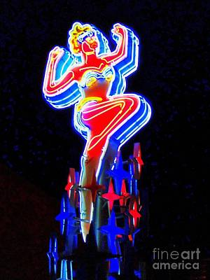 Photograph - Neon Woman by Randall Weidner