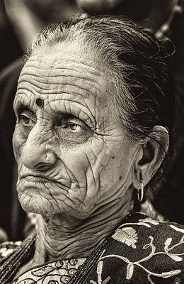 Photograph - Nepalese Day Nyc 2018 Elderly Nepalese Woman by Robert Ullmann