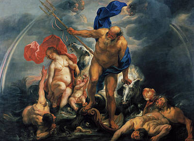 Painting - Neptune And Amphitrite In The Storm by Jacob Jordaens