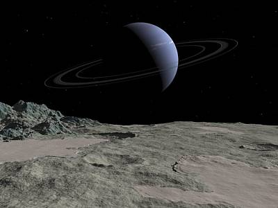 Neptune From Triton, Artwork Art Print by Walter Myers