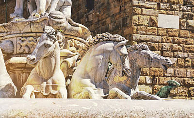 Photograph - Neptune's Fountain Stallions by JAMART Photography