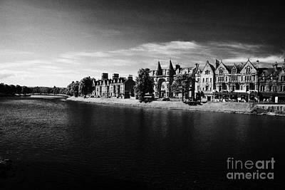Ness Walk By River Ness Flowing Through Inverness City Highland Scotland Uk Art Print