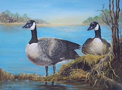 Painting - Nesting At Millsboro Pond by Ronald Lightcap
