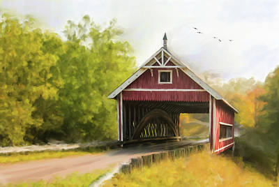 Photograph - Netcher Road Covered Bridge by Mary Timman