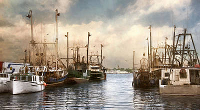 Photograph - New Bedford Harbor by Robin-Lee Vieira