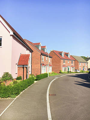 Suburbia Photograph - New Build Homes by Tom Gowanlock