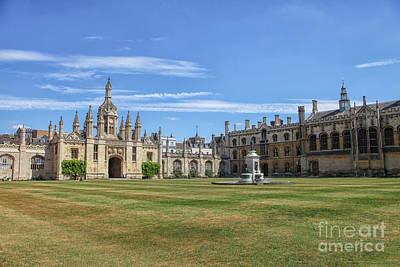 Photograph - New Court St John's College, Cambridge by Patricia Hofmeester