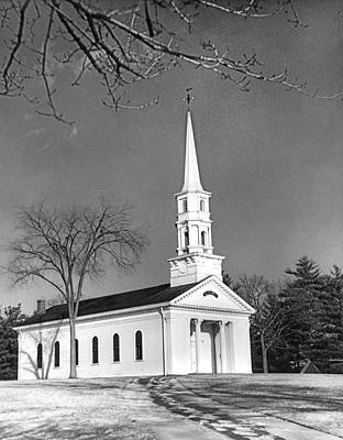 New England Church Art Print by Underwood Archives