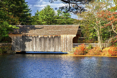Photograph - New England Covered Bridge by Arthur Dodd