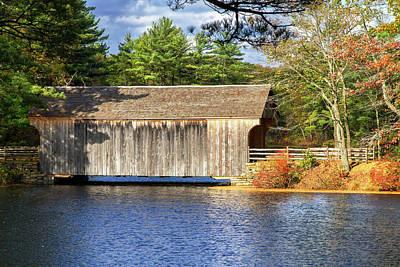 Photograph - New England Covered Bridge by Arthur Dodd