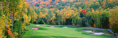 Hazard Photograph - New England Golf Course New England Usa by Panoramic Images