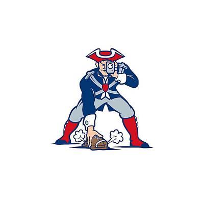 New England Patriots Parody Art Print by Joe Hamilton